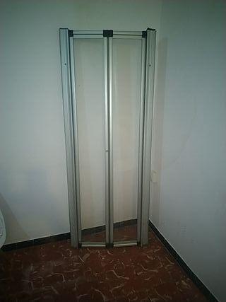mampara de ducha plegable de aluminio