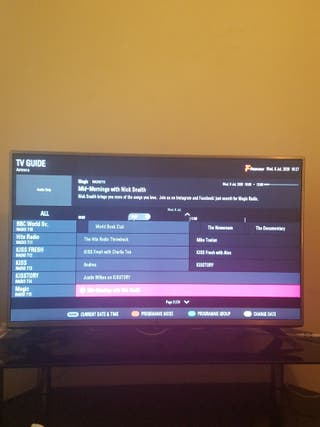 LG 43 inch HD TV with built-in freeview