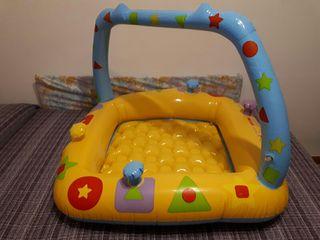 piscina 90*90 niño niña bebe hinchable buen estado