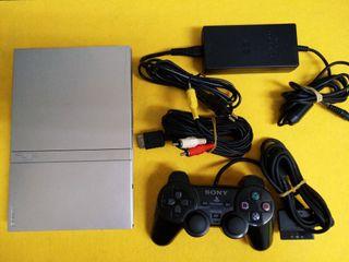 Consola Sony Playstation 2 Slim Silver (Pstwo)