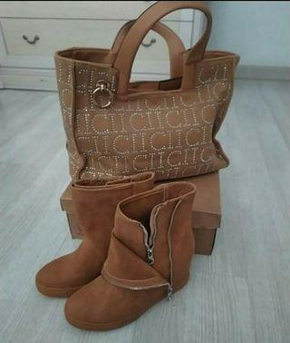 bolso y botas n. 38