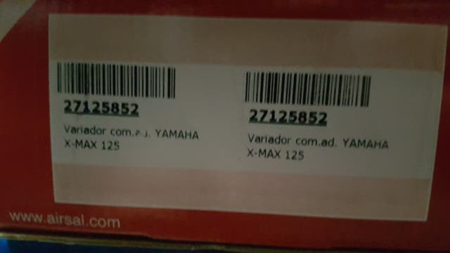 Variador Yamaha X max 125