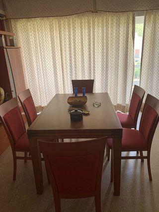 Conjunto mesas y sillas salon