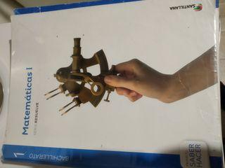 libro de matemáticas I de 1° de Bachillerato