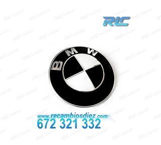 LOGO REDONDO BMW CAPÓ 82 MM EN NEGRO