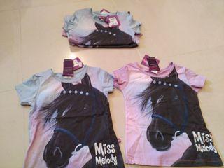 camisetas, miss Melody, caballos
