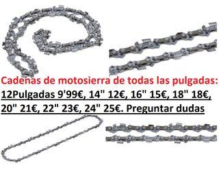 CADENAS MOTOSIERRAS TAMAÑOS Y PULGADAS