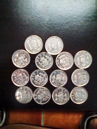 monedas de diez pesetas