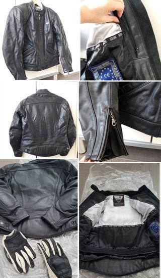 Ladies motorcycle jacket + leather gloves Ducati