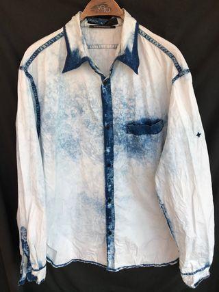 Camisa manga larga STONE ISLAND DENIMS talla XL