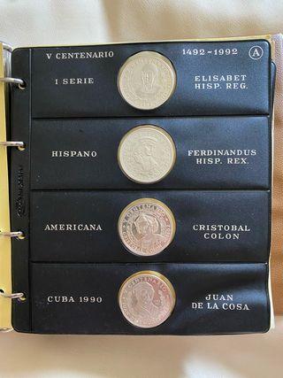 Colección plata cuba quinto centenario