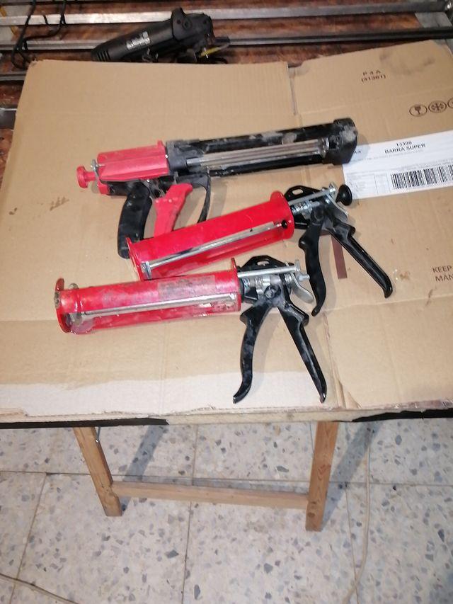 pistola para silicon as o resinas