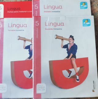 4 Libros Lingua Galega 5° Primaria Santillana