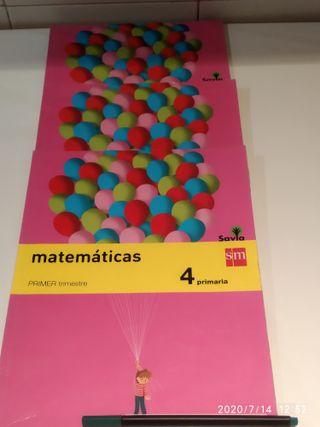 Libros de Matemáticas Cuarto de Primaria.