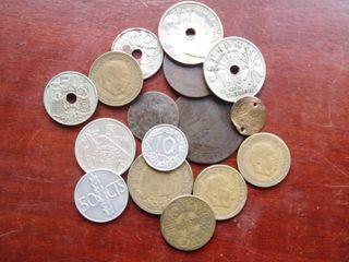 16 monedas españolas de los siglos XIX y XX