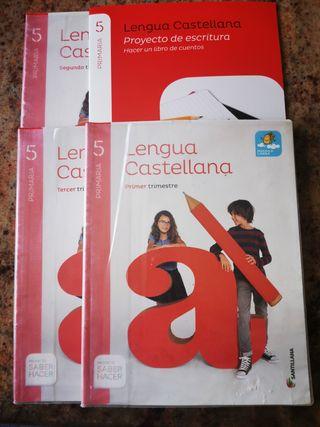 4 Libros Lengua Castellana 5° Primaria Santillana