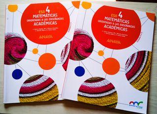 Matemáticas 4ESO Anaya (2 libros)