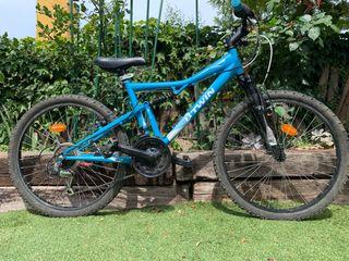 Bicicleta B-twin doble suspensión