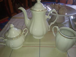 tetera lechera azucarera vintage porcelana