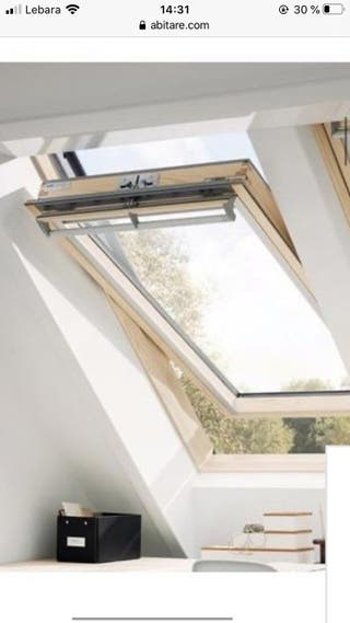Ventana de techo velux 66X118 incluida persiana