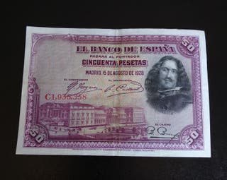 billete 50 pesetas de 1928 x 1€