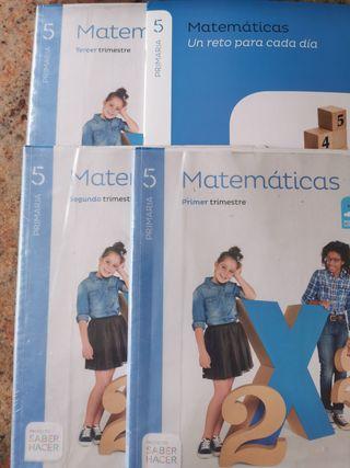 4 Libros Matemáticas 5° Primaria Santillana
