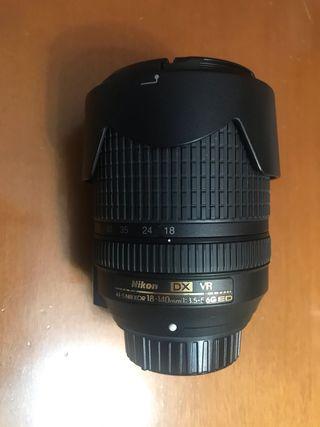 Objetivo Nikon 18-140mm dx 3.5-5.6