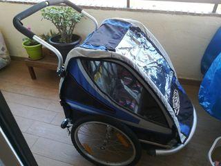 Remolque de bici biplaza marca Qeridoo
