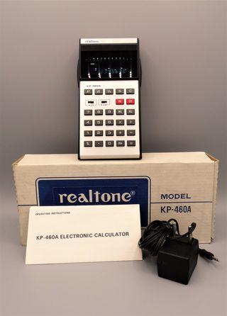 Realtone Electronic Calculator Model KP-460A 1976