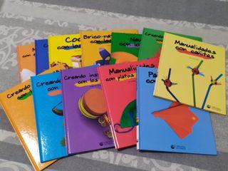 Colección manualidades para niños, 12 libros