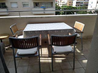 4 sillas de balcón terraza