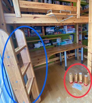 Suplemento litera flexa: escalera y conectores