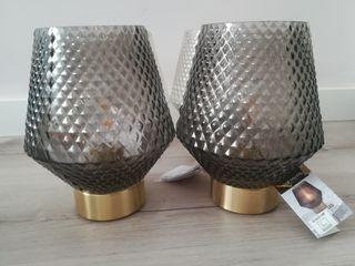 set 2 lámparas de mesa LED
