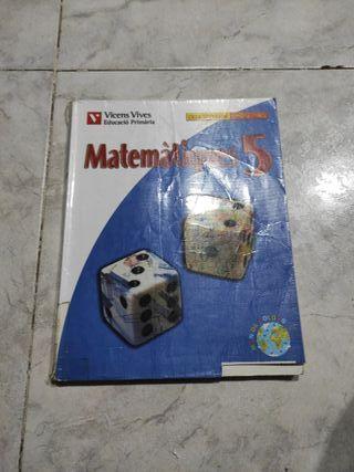 Libro de matemáticas para quinto de primaria