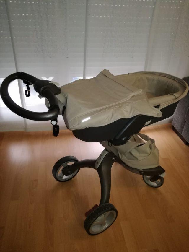 stokke xplory beige capazo silla y grupo 0