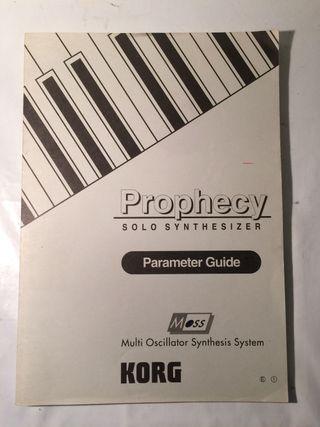 KORG Prophecy Sintetizador Manual de instrucciones