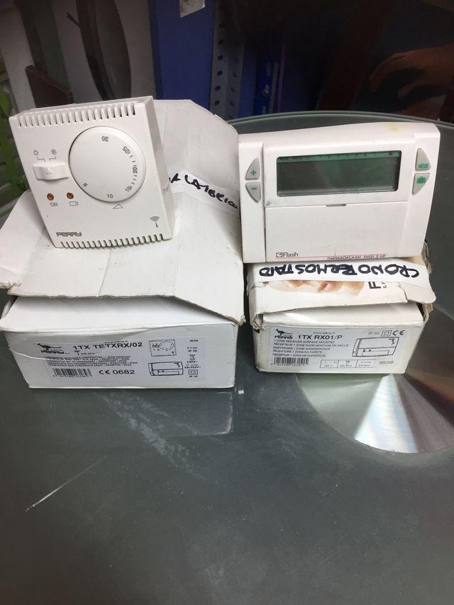 Cronotermostato (x1) y termostatos(x2) inalambrico
