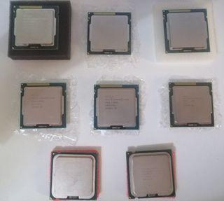Procesadores CPU varios modelos, precio por unidad