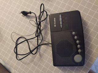 Radio despertador negro vintage