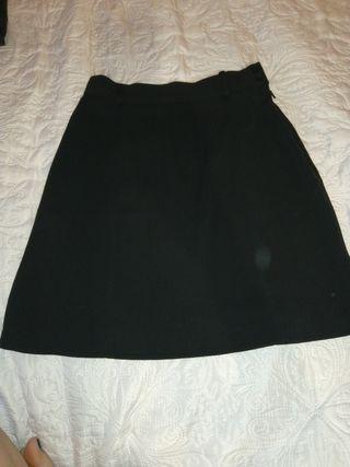 Falda negra mango talla 36