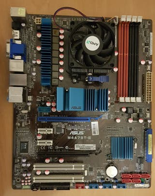 Placa base Asus Amd M4A78T-E+CPU x4