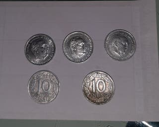 10 CENTIMOS DE FRANCO 1959