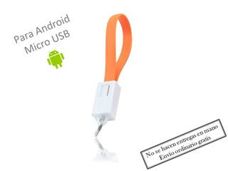 Cable cargador llavero micro USB Naranja