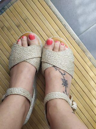 Sandalias gladiador calzado plataforma plana