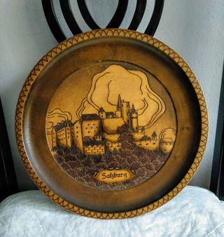 plato decorativo decoración Salzburgo Austria. de
