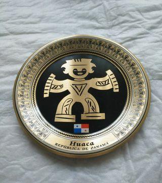 plato decorativo huaca República de Panamá 13.5cm