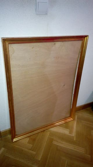 Cuadro marco con cristal antiguo