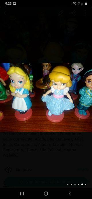 4 figuras de animators Disney