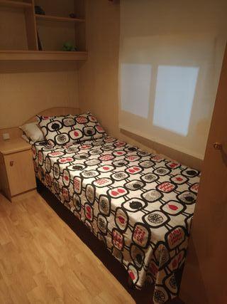 Somier + colchón de 75cm x 190cm.