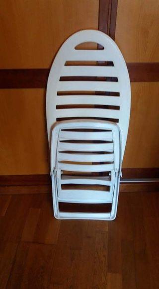 silla de playa vintage en buen estado
